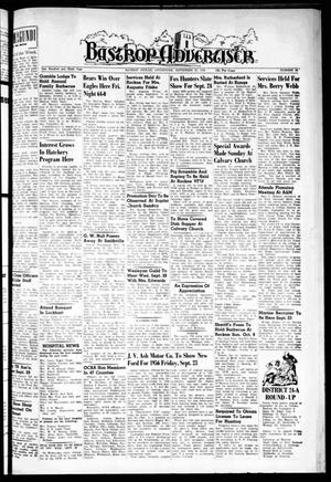 Primary view of object titled 'Bastrop Advertiser (Bastrop, Tex.), Vol. 103, No. 30, Ed. 1 Thursday, September 22, 1955'.