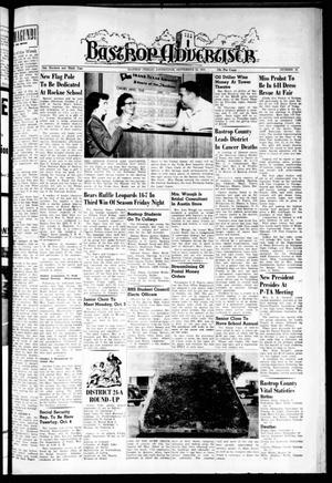 Primary view of object titled 'Bastrop Advertiser (Bastrop, Tex.), Vol. 103, No. 31, Ed. 1 Thursday, September 29, 1955'.