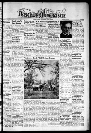Primary view of object titled 'Bastrop Advertiser (Bastrop, Tex.), Vol. 104, No. 3, Ed. 1 Thursday, March 15, 1956'.