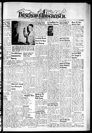 Primary view of object titled 'Bastrop Advertiser (Bastrop, Tex.), Vol. 104, No. 6, Ed. 1 Thursday, April 5, 1956'.