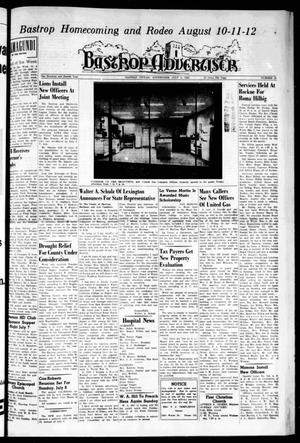 Primary view of object titled 'Bastrop Advertiser (Bastrop, Tex.), Vol. 104, No. 19, Ed. 1 Thursday, July 5, 1956'.