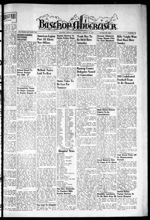 Primary view of object titled 'Bastrop Advertiser (Bastrop, Tex.), Vol. 104, No. 25, Ed. 1 Thursday, August 16, 1956'.