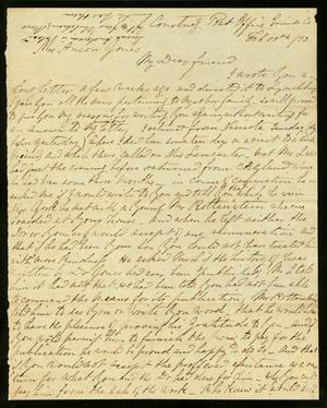 Primary view of object titled 'Letter to Mary Jones, 10 February 1870'.