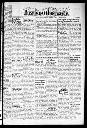 Primary view of object titled 'Bastrop Advertiser (Bastrop, Tex.), Vol. 104, No. 31, Ed. 1 Thursday, September 27, 1956'.