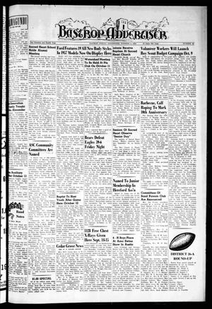 Primary view of object titled 'Bastrop Advertiser (Bastrop, Tex.), Vol. 104, No. 32, Ed. 1 Thursday, October 4, 1956'.