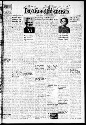 Primary view of object titled 'Bastrop Advertiser (Bastrop, Tex.), Vol. 104, No. 48, Ed. 1 Thursday, January 24, 1957'.