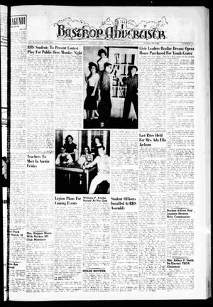 Primary view of object titled 'Bastrop Advertiser (Bastrop, Tex.), Vol. 105, No. 2, Ed. 1 Thursday, March 14, 1957'.