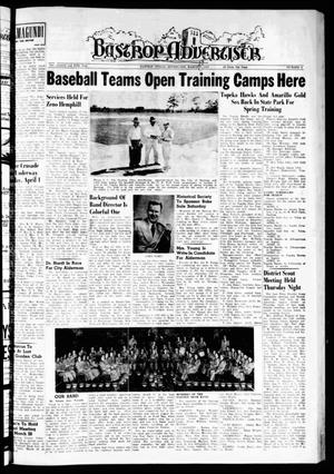 Primary view of object titled 'Bastrop Advertiser (Bastrop, Tex.), Vol. 105, No. 4, Ed. 1 Thursday, March 28, 1957'.