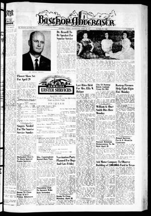 Primary view of object titled 'Bastrop Advertiser (Bastrop, Tex.), Vol. 105, No. 7, Ed. 1 Thursday, April 18, 1957'.