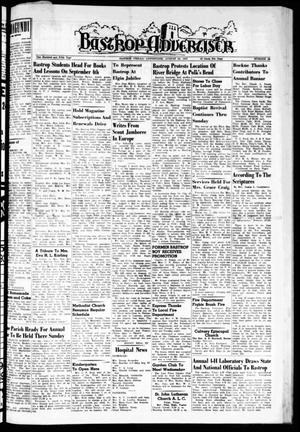 Primary view of object titled 'Bastrop Advertiser (Bastrop, Tex.), Vol. 105, No. 26, Ed. 1 Thursday, August 29, 1957'.