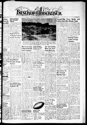 Primary view of object titled 'Bastrop Advertiser (Bastrop, Tex.), Vol. 105, No. 27, Ed. 1 Thursday, September 5, 1957'.