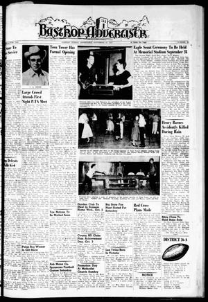 Primary view of object titled 'Bastrop Advertiser (Bastrop, Tex.), Vol. 105, No. 30, Ed. 1 Thursday, September 26, 1957'.