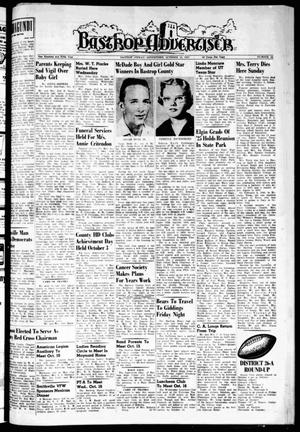 Primary view of object titled 'Bastrop Advertiser (Bastrop, Tex.), Vol. 105, No. 32, Ed. 1 Thursday, October 10, 1957'.