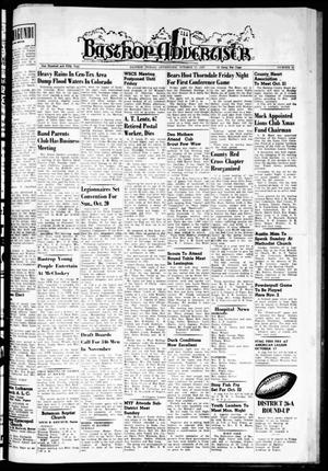 Primary view of object titled 'Bastrop Advertiser (Bastrop, Tex.), Vol. 105, No. 33, Ed. 1 Thursday, October 17, 1957'.