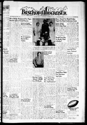 Primary view of object titled 'Bastrop Advertiser (Bastrop, Tex.), Vol. 105, No. 36, Ed. 1 Thursday, November 7, 1957'.
