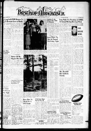 Primary view of object titled 'Bastrop Advertiser (Bastrop, Tex.), Vol. 105, No. 37, Ed. 1 Thursday, November 14, 1957'.