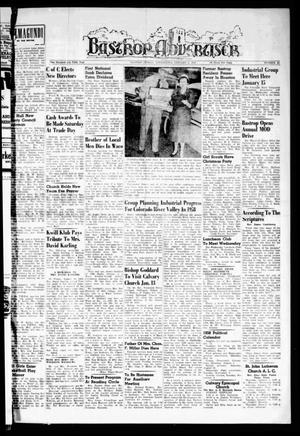 Primary view of object titled 'Bastrop Advertiser (Bastrop, Tex.), Vol. 105, No. 45, Ed. 1 Thursday, January 9, 1958'.