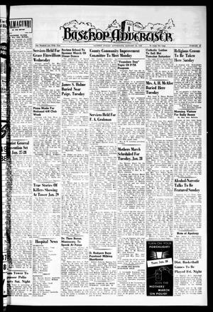 Primary view of object titled 'Bastrop Advertiser (Bastrop, Tex.), Vol. 105, No. 47, Ed. 1 Thursday, January 23, 1958'.
