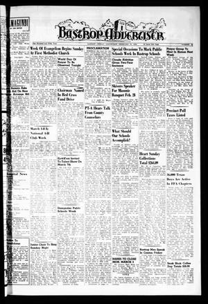 Primary view of object titled 'Bastrop Advertiser (Bastrop, Tex.), Vol. 105, No. 52, Ed. 1 Thursday, February 27, 1958'.
