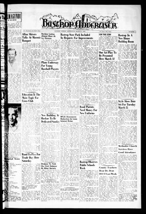 Bastrop Advertiser (Bastrop, Tex.), Vol. 106, No. 1, Ed. 1 Thursday, March 6, 1958