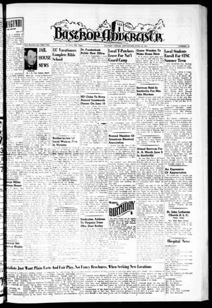 Primary view of object titled 'Bastrop Advertiser (Bastrop, Tex.), Vol. 106, No. 15, Ed. 1 Thursday, June 12, 1958'.