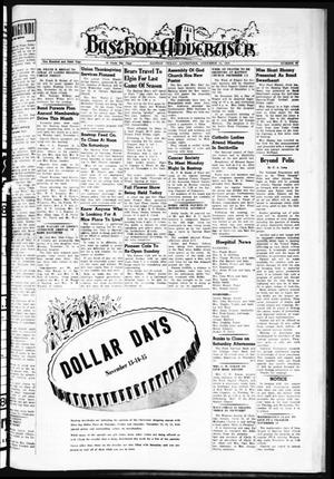 Primary view of object titled 'Bastrop Advertiser (Bastrop, Tex.), Vol. 106, No. 37, Ed. 1 Thursday, November 13, 1958'.
