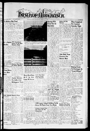Primary view of object titled 'Bastrop Advertiser (Bastrop, Tex.), Vol. 106, No. 51, Ed. 1 Thursday, February 19, 1959'.