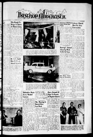 Primary view of object titled 'Bastrop Advertiser (Bastrop, Tex.), Vol. 107, No. 8, Ed. 1 Thursday, April 23, 1959'.