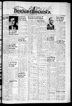 Primary view of object titled 'Bastrop Advertiser (Bastrop, Tex.), Vol. 107, No. 15, Ed. 1 Thursday, June 11, 1959'.