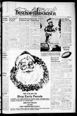 Primary view of object titled 'Bastrop Advertiser (Bastrop, Tex.), Vol. 107, No. 38, Ed. 1 Thursday, November 19, 1959'.