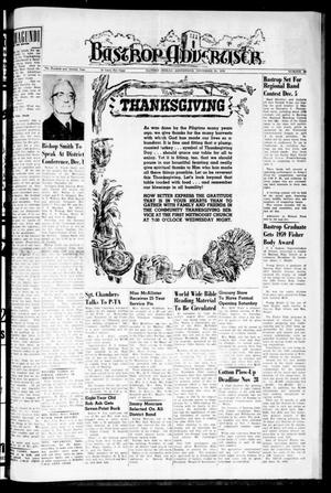 Primary view of object titled 'Bastrop Advertiser (Bastrop, Tex.), Vol. 107, No. 39, Ed. 1 Thursday, November 26, 1959'.