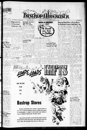 Primary view of object titled 'Bastrop Advertiser (Bastrop, Tex.), Vol. 107, No. 41, Ed. 1 Thursday, December 10, 1959'.