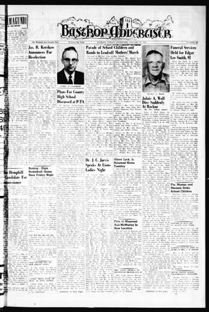 Primary view of object titled 'Bastrop Advertiser (Bastrop, Tex.), Vol. 107, No. 48, Ed. 1 Thursday, January 28, 1960'.