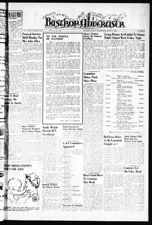 Primary view of object titled 'Bastrop Advertiser (Bastrop, Tex.), Vol. 108, No. 1, Ed. 1 Thursday, March 3, 1960'.