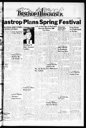 Bastrop Advertiser (Bastrop, Tex.), Vol. 108, No. 2, Ed. 1 Thursday, March 10, 1960