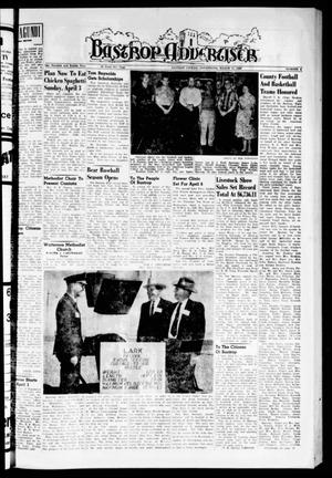 Primary view of object titled 'Bastrop Advertiser (Bastrop, Tex.), Vol. 108, No. 5, Ed. 1 Thursday, March 31, 1960'.