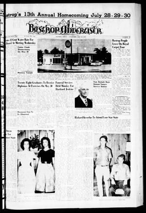 Primary view of object titled 'Bastrop Advertiser (Bastrop, Tex.), Vol. 108, No. 13, Ed. 1 Thursday, May 26, 1960'.
