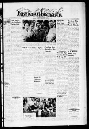 Primary view of object titled 'Bastrop Advertiser (Bastrop, Tex.), Vol. 108, No. 23, Ed. 1 Thursday, August 4, 1960'.