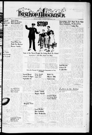 Primary view of object titled 'Bastrop Advertiser (Bastrop, Tex.), Vol. 108, No. 27, Ed. 1 Thursday, September 1, 1960'.