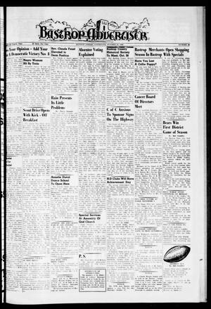 Primary view of object titled 'Bastrop Advertiser (Bastrop, Tex.), Vol. 108, No. 34, Ed. 1 Thursday, October 20, 1960'.