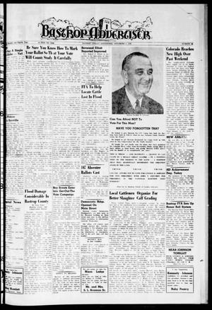 Primary view of object titled 'Bastrop Advertiser (Bastrop, Tex.), Vol. 108, No. 36, Ed. 1 Thursday, November 3, 1960'.