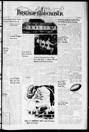 Primary view of object titled 'Bastrop Advertiser (Bastrop, Tex.), Vol. 108, No. 38, Ed. 1 Thursday, November 17, 1960'.