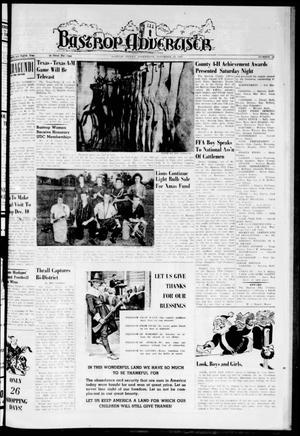 Bastrop Advertiser (Bastrop, Tex.), Vol. 108, No. 39, Ed. 1 Thursday, November 24, 1960