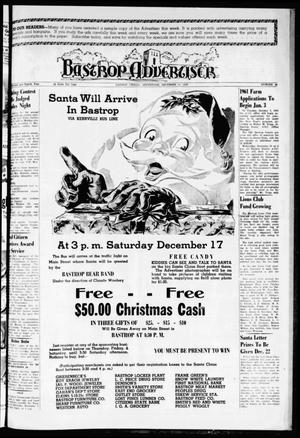 Primary view of object titled 'Bastrop Advertiser (Bastrop, Tex.), Vol. 108, No. 42, Ed. 1 Thursday, December 15, 1960'.