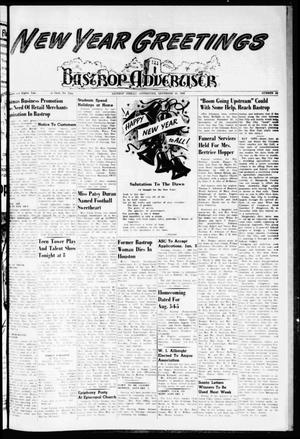 Primary view of object titled 'Bastrop Advertiser (Bastrop, Tex.), Vol. 108, No. 44, Ed. 1 Thursday, December 29, 1960'.