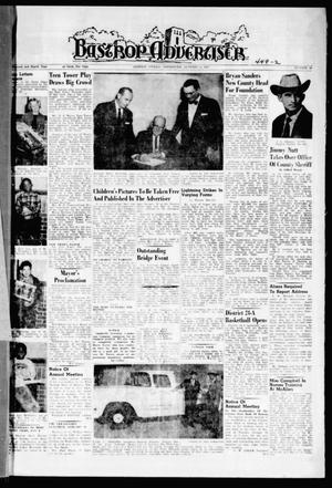 Primary view of object titled 'Bastrop Advertiser (Bastrop, Tex.), Vol. 108, No. 45, Ed. 1 Thursday, January 5, 1961'.