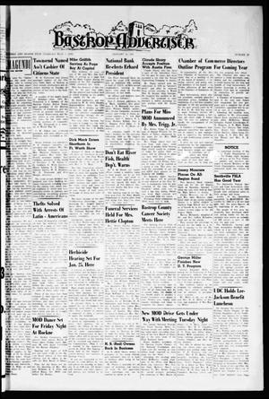 Primary view of object titled 'Bastrop Advertiser (Bastrop, Tex.), Vol. 108, No. 47, Ed. 1 Thursday, January 19, 1961'.