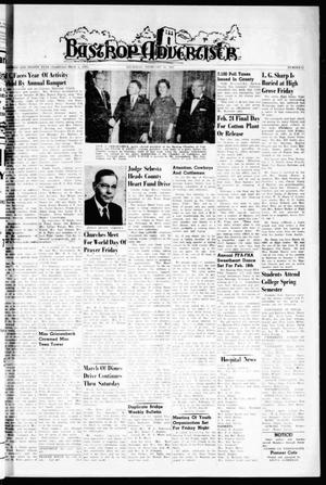 Primary view of object titled 'Bastrop Advertiser (Bastrop, Tex.), Vol. 108, No. 51, Ed. 1 Thursday, February 16, 1961'.