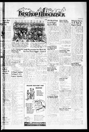 Primary view of object titled 'Bastrop Advertiser (Bastrop, Tex.), Vol. 108, No. 52, Ed. 1 Thursday, February 23, 1961'.