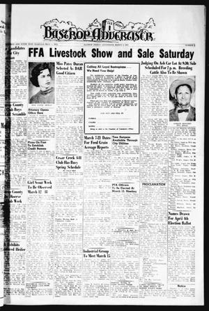 Primary view of object titled 'Bastrop Advertiser (Bastrop, Tex.), Vol. 109, No. 2, Ed. 1 Thursday, March 9, 1961'.